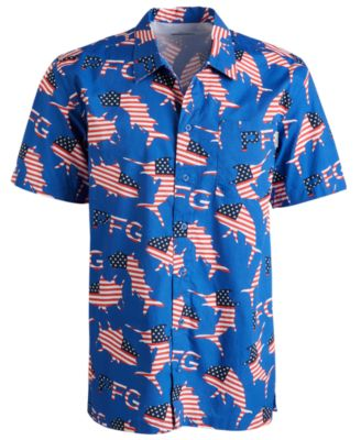 Button-Up Columbia PFG Mens Trollers Best Short Sleeve Shirt Breathable