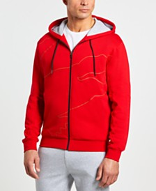 Lacoste Men's Sport Oversize Crocodile Zip Up Hoodie