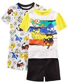 AME Little & Big Boys 2-Pack Pokémon Graphic Cotton Pajamas