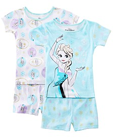 Little & Big Girls 2-Pack Frozen Graphic Cotton Pajamas