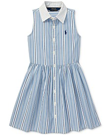 Polo Ralph Lauren Toddler Girls Striped Cotton Shirtdress