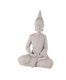 Contemporary Resin Sitting Buddha Sculpture