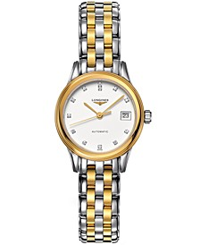 Women's Swiss Automatic Flagship Diamond Accent Two Tone Stainless Steel Bracelet Watch 26mm L42743277