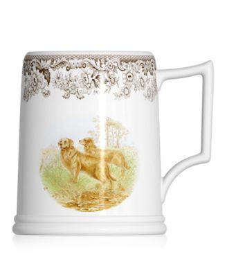 Dinnerware, Woodland Tankard Beer Mug Golden Retriever