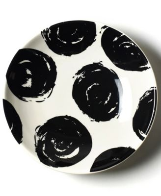 by Laura Johnson Brushed Dot Scoop Salad Plate