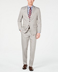 Men's Classic-Fit Stretch Tan Neat Suit, Created for Macy's