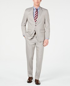 Club Room Men's Classic-Fit Stretch Tan Neat Suit, Created for Macy's
