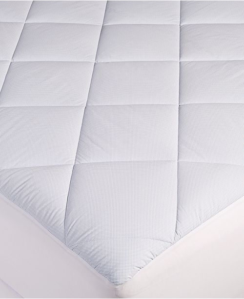 Martha Stewart Collection Cool To Touch Twin Mattress Pad, Created for Macy's