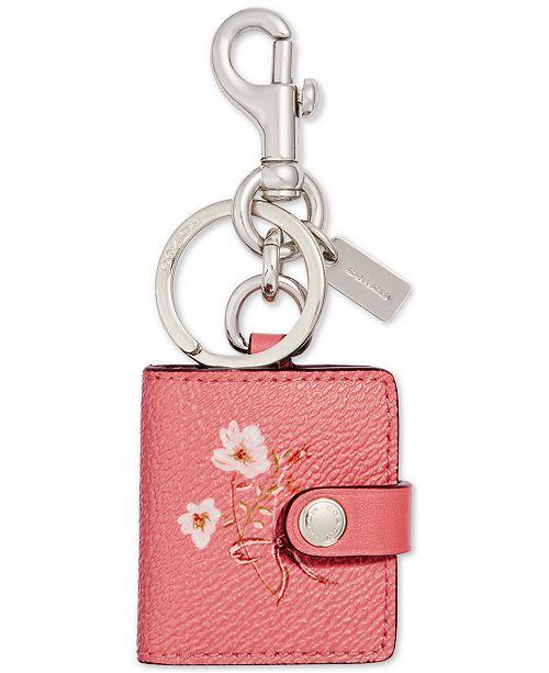 COACH Floral Picture Frame Bag Charm
