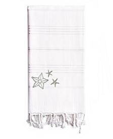 Summer Fun Glittery Starfish Pestemal Beach Towel