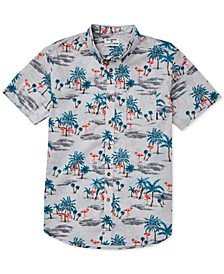 Little Boys Sundays Tropical-Print Shirt