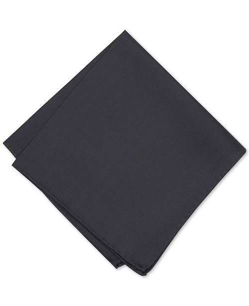 Alfani Men's Solid Twill Silk Pocket Square, Created for Macy's