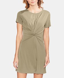Vince Camuto Washed Jersey Knot-Front Dress