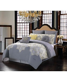 Style 212 Melania Queen 10 Piece Comforter Set
