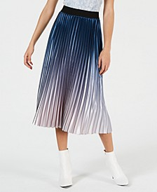Krista Ombré Pleated Skirt