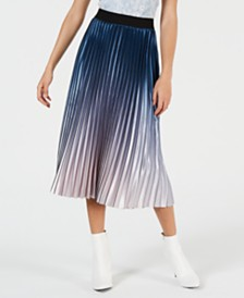 Lucy Paris Krista Ombré Pleated Skirt