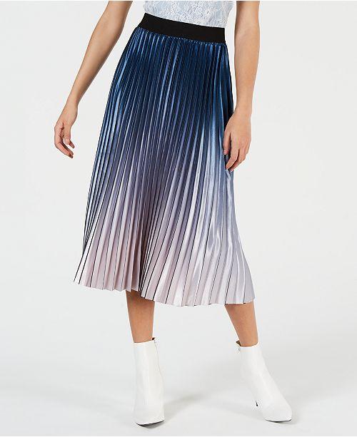 c0cbe91136c Lucy Paris Krista Ombré Pleated Skirt & Reviews - Skirts - Juniors ...