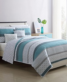 Wayne 5 Piece Full/Queen Quilt Set