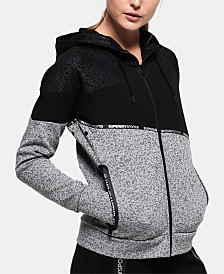 Superdry Spliced Zippered Hoodie
