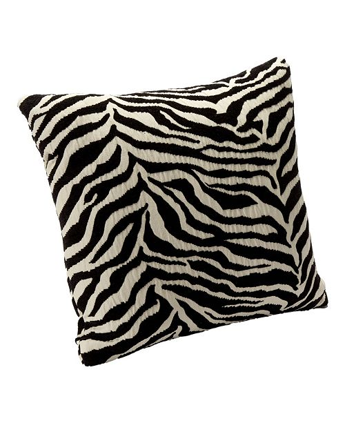 "Siscovers Zebra Zen 26"" Designer Throw Pillow"