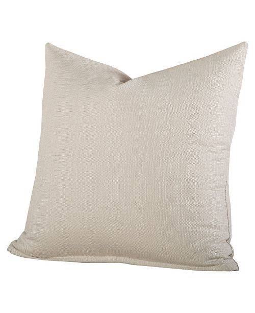"Siscovers Linen Cream 16"" Designer Throw Pillow"