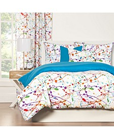 Splat 5 Piece Twin Luxury Duvet Set