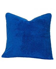 "Playful Plush Blueberry Blue 16"" Designer Throw Pillow"