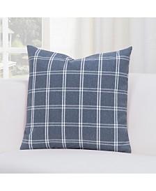 "Siscovers Tartan Denim 26"" Designer Euro Throw Pillow"