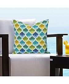 Tide Pool Carribean Indoor-Outdoor Designer Throw Pillow