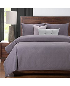 Everlast Plum Stain Resistant 6 Piece Queen Luxury Duvet Set
