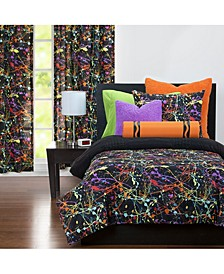 Neon Splat 6 Piece Full Size Luxury Duvet Set