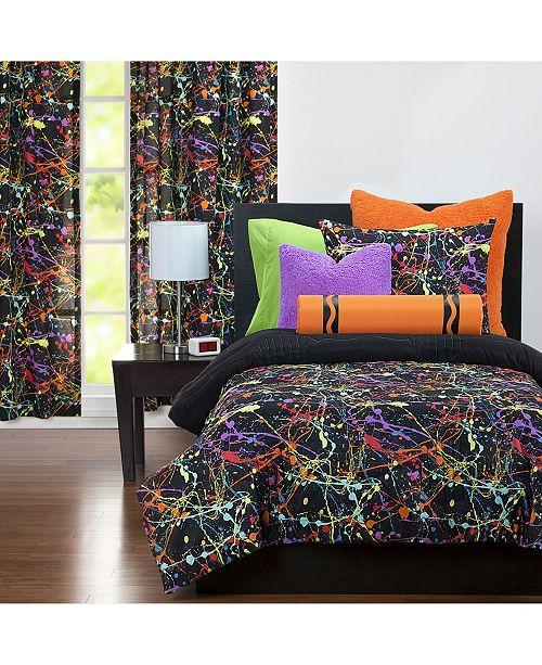 Crayola Neon Splat 6 Piece Full Size Luxury Duvet Set