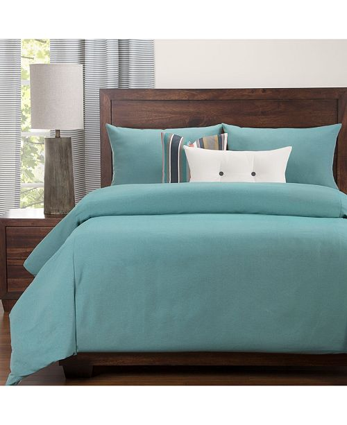 Revolution Plus Everlast Turquoise Stain Resistant 6 Piece King Luxury Duvet Set