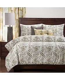 Malta Gold 6 Piece Queen Luxury Duvet Set