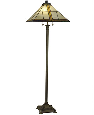 Dale tiffany mission floor lamp lighting lamps for for Macy s torchiere floor lamp