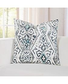 "Malta Teal 20"" Designer Throw Pillow"