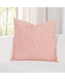 Pacific Apricot Linen  Designer Throw Pillow