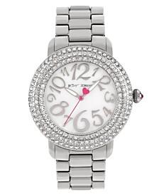 Betsey Johnson Stone Bezel Bracelet Watch