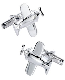 Sutton Sterling Silver Airplane Cufflinks