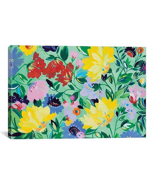 "iCanvas ""Mint Garden Textile"" By Kim Parker Gallery-Wrapped Canvas Print - 12"" x 18"" x 0.75"""