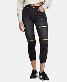 Free People Sunny Distressed Midrise Skinny Jeans