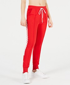 La La Anthony Zip-Detail Jogger Pants