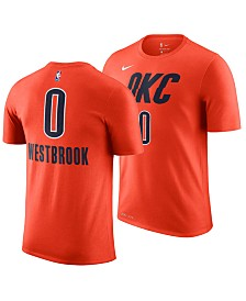 Nike Big Boys Russell Westbrook Oklahoma City Thunder Earned Edition Name and Number T-Shirt