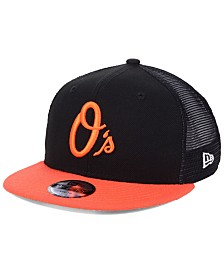 New Era Boys' Baltimore Orioles All Day Mesh Back 9FIFTY Snapback Cap