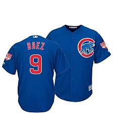 Majestic Men's Javier Baez Chicago Cubs Spring Training Patch Replica Cool Base Jersey