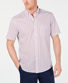 Club Room Men's Americana Star-Print Shirt, Created for Macy's
