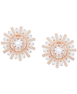 Swarovski Accessories ROSE GOLD-TONE CRYSTAL SUNSHINE CLIP-ON STUD EARRINGS