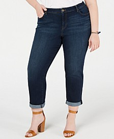 Plus Size Boyfriend Jeans, Created for Macy's