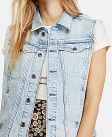 Free People Zoe Cotton Denim Vest