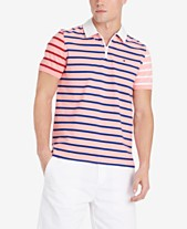 f62c4b42 Tommy Hilfiger Men's Daniel Regular-Fit Colorblocked Stripe Logo Polo